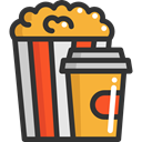 Salty, Food And Restaurant, food, popcorn, snack, Fast food, cinema DarkSlateGray icon