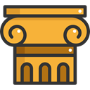 Column, Art, Ornamental, Adornment, Antique, decoration, Elegant, Monuments Goldenrod icon