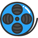 cinema, film, movie, interface, technology, entertainment, film reel, video player, filming DarkSlateGray icon