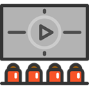 cinema, film, movie, video, play, entertainment, Audience DarkGray icon