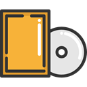 compact disc, Music And Multimedia, Multimedia, music, Dvd, Cd, music player, Bluray Goldenrod icon