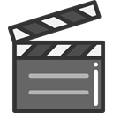 cinema, film, movie, Clapboard, Clapperboard, clapper, entertainment DarkSlateGray icon