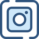 Logo, social media, social network, logotype, Brand, Instagram, Brands And Logotypes DarkSlateBlue icon
