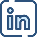 Logo, social media, Linkedin, social network, logotype, Brand, Brands And Logotypes DarkSlateBlue icon