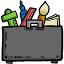 Folder, Designer, Art, Edit Tools, Art And Design DimGray icon