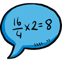 Multimedia, Chat, education, Answer, Communication, speech bubble, Conversation, maths MediumTurquoise icon