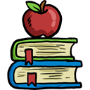 Books, Library, education, reading, study, Literature, Apple Black icon