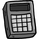 calculator, education, technology, maths, Calculating, Technological Black icon