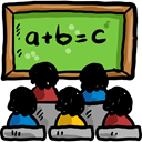 chalkboard, education, Blackboard, Classroom, School Material YellowGreen icon