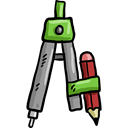 Drawing, miscellaneous, Draw, compass, education, School Materials, Tools And Utensils Black icon