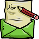 Email, Communications, envelope, Message, mail, Letter PaleGoldenrod icon