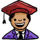 user, education, student, Avatar, Graduate Black icon