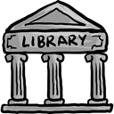 Book, Books, buildings, study, Literature, Architecture And City, Library, Building, education, reading DarkGray icon