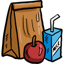 food, Lunch, Bag, dinner, meal, Fast food, paper bag, Bakery, Food And Restaurant Icon