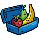 Fruit, Container, diet, Healthy Food, Lunch Box, Food And Restaurant Black icon