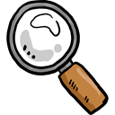 search, magnifying glass, Tools And Utensils, zoom, miscellaneous, detective, Loupe Black icon