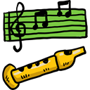 music, Flute, Music Instrument, Wind Instrument, Orchestra, Music And Multimedia Black icon