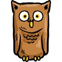 Animals, Wild Life, Animal Kingdom, bird, hunter, owl Black icon