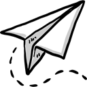 Message, paper plane, childhood, Origami, Airplane Origami, Art And Design Black icon