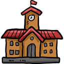 college, High School, Architecture And City, school, education, buildings Black icon