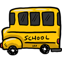 transportation, transport, vehicle, school bus, Automobile, Public transport Gold icon