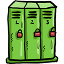 sports, wardrobe, Closet, lockers, Sportive, Furniture And Household YellowGreen icon