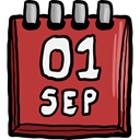 Schedule, interface, Administration, Organization, Calendar, time, date, Calendars, September, Time And Date Brown icon