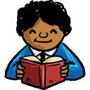 Man, people, Occupation, job, reading, teacher, profession, education, Avatar Black icon