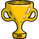 winner, Champion, Sports And Competition, cup, award, trophy Black icon