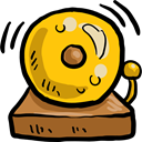 Alarm, bell, education, notification, Tools And Utensils, School Bell Gold icon