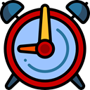 Time And Date, Clock, time, timer, alarm clock, Tools And Utensils LightSkyBlue icon