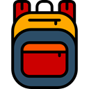 travel, Backpack, luggage, baggage, Bags Black icon