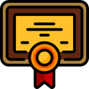 contract, education, degree, Certificate, diploma, patent Goldenrod icon