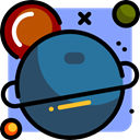 planet, education, universe, galaxy, Astronomy SteelBlue icon