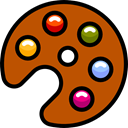 palette, Art, Painting, Artistic, Painter, Artist, Edit Tools, Paint Palette, interface Chocolate icon