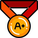 award, medal, winner, Quality, Certification, Sports And Competition Black icon