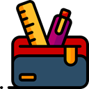 education, pencil case, Tools And Utensils, Writing Tool DarkSlateGray icon