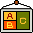 school, Abc, education, learning, poster Olive icon