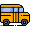 transportation, transport, vehicle, school bus, Automobile, Public transport Black icon