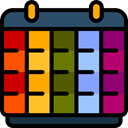 Calendar, Administration, Organization, Calendars, Time And Date, time, date, Schedule, interface DarkSlateGray icon