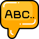 Conversation, Communications, Multimedia, Chat, Communication, speech bubble Goldenrod icon