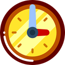 Clock, time, watch, tool, square, Tools And Utensils, Time And Date Maroon icon