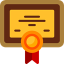 patent, education, degree, Certificate, diploma, contract Goldenrod icon