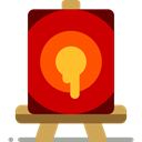 Easel, Canvas, Painter, Art And Design, paint, Art, Painting, Artistic, tools, tool Red icon