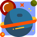 galaxy, Astronomy, planet, education, universe CornflowerBlue icon