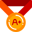 winner, Quality, Certification, Sports And Competition, award, medal DarkRed icon