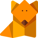 Art, dog, Origami, Art And Design DarkOrange icon