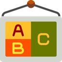 poster, school, Abc, education, learning LightGray icon