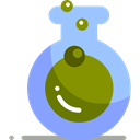 flask, chemical, Test Tube, Flasks, science, education, Chemistry Olive icon