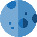 Moon, weather, nature, meteorology, miscellaneous, Astronomy, full moon, Moon Phase SteelBlue icon
